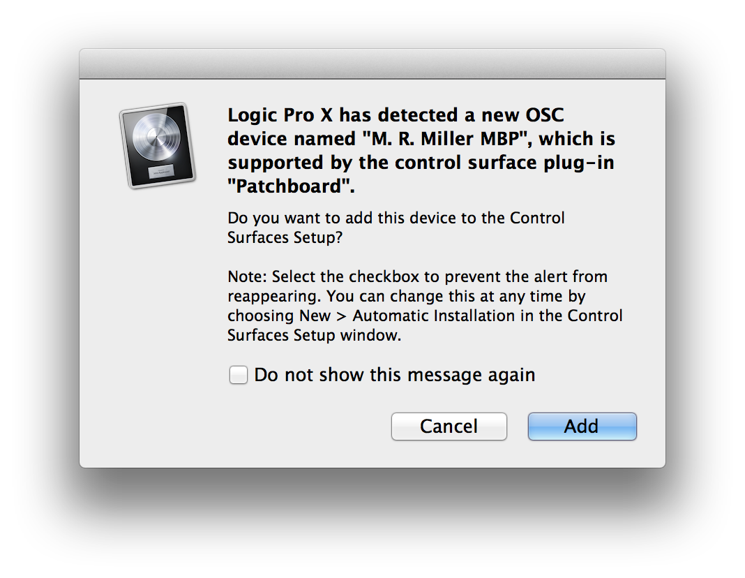 Logic Control Surface